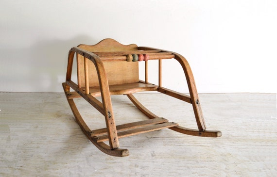 Baby Rocking Chair Baby Rocker Antique Baby Chair Oak