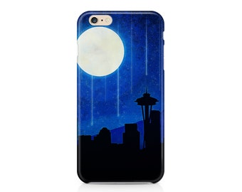 Sleepless Seattle Phone Case, Seattle Skyline, Space Needle, Cool Phone Cases, Best Cell Phone Cases, iPhone 7, Samsung Galaxy S8