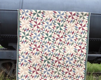Queen Quilt   Hand Stitched   Rustic Quilt   Patchwork Quilt   Hand Quilt   Queen Bedspread   Handmade Quilt   Homemade Quilt