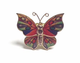 Butterfly ring, rainbow ring, rainbow butterfly, bug ring, insect ring, red, blue, green, orange, yellow, purple