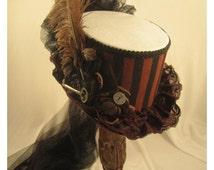 STEAMPUNK TOP HATS, Steampunk Costume, White, Black, Brown, Clock Parts