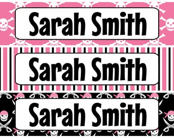 Personalized Waterproof Labels Waterproof Stickers Name Label Dishwasher Safe Daycare Label School Label - Cutie Pirate Designs