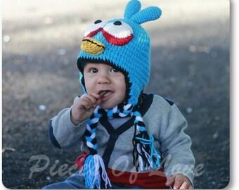 Crochet Blue Bird Hat