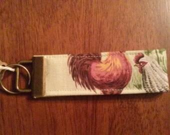 Chicken Fabric Key Fob