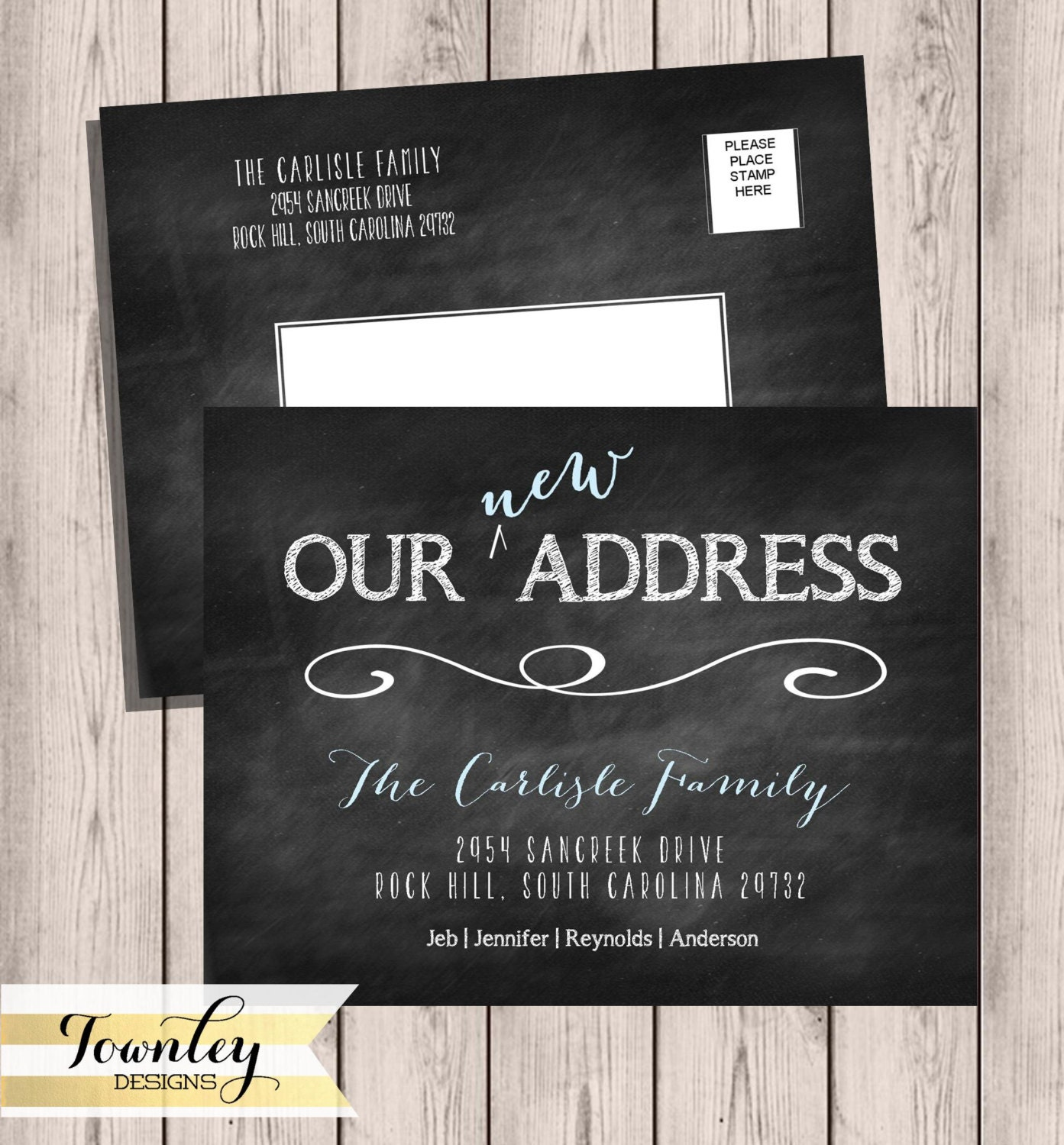 Moving Postcard Chalkboard Moving Announcements We Ve Moved New Home New