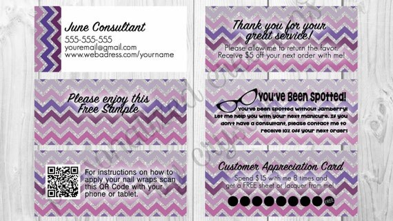 Jamberry Business Card 10 - MLM Cards