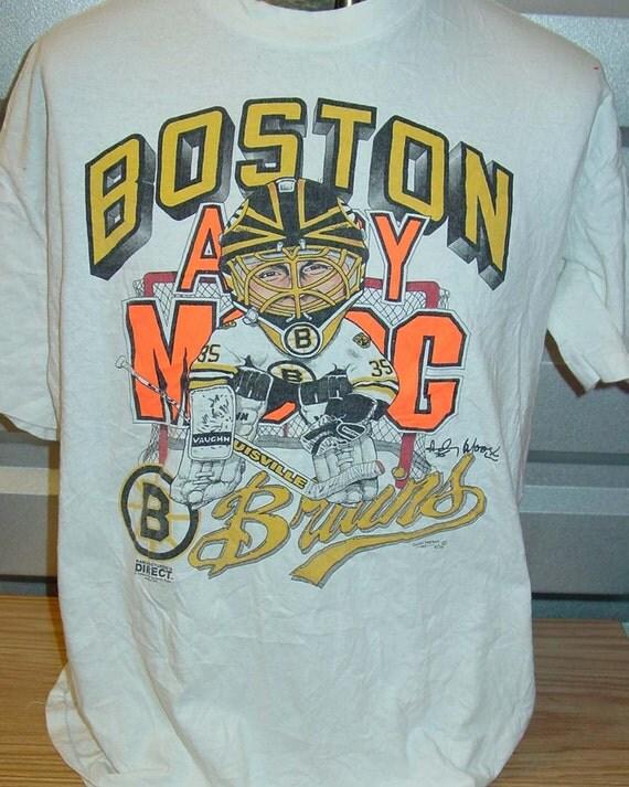 Vintage boston bruins cartoon hockey t shirt for Boston bruins vintage shirt