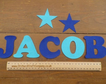 Large Felt Letters and Numbers  x 7 (7.5cm) Quality Felt, Choice of Colours.