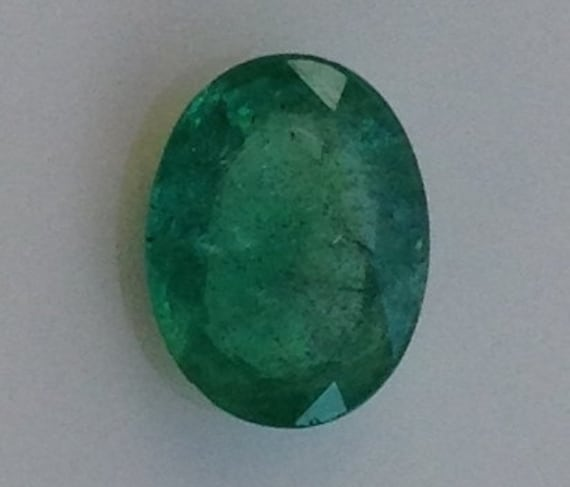 Lucky Emerald 2.15 Carat Oval 7.75x10mm Natural Green Gemstone with Video