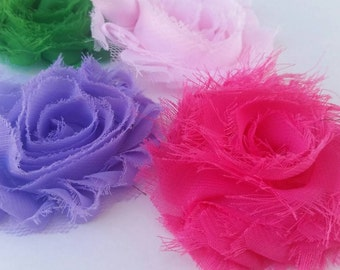 Grab Bag 4 Shabbies Shabby Fabric Flowers for Bow Making and Scrapbooking  Wholesale Price