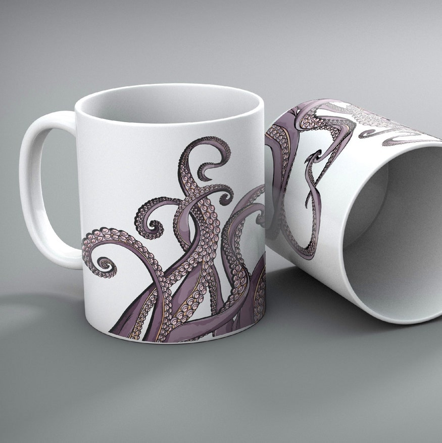 Purple Tentacle Octopus Mugs