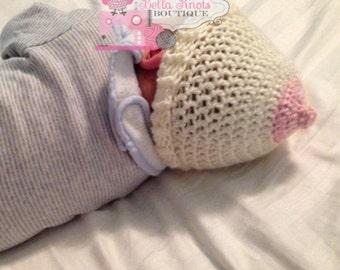 Crochet Boob Hat, Boob Beanie, Boob Crochet Hat, Support Breast Cancer Awareness & Breastfeeding Awareness