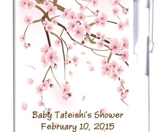 64 Cherry Blossom Baby Notebook Favor