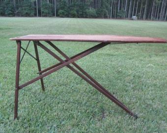 ironing board, antique iron board, folk art, handmade wood furniture, primitive furniture,rustic decor