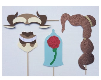 Beauty and the Beast Photo Booth Props ; Fairytale Wedding Photo Booth