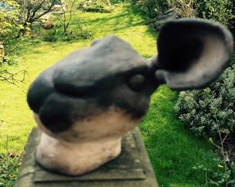 Billy Rabbit Head sculpture - Expression
