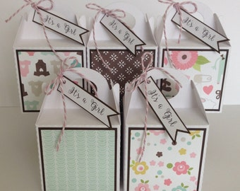 New Baby Girl Baby Shower Gift Box Favour Favor Boxes single box