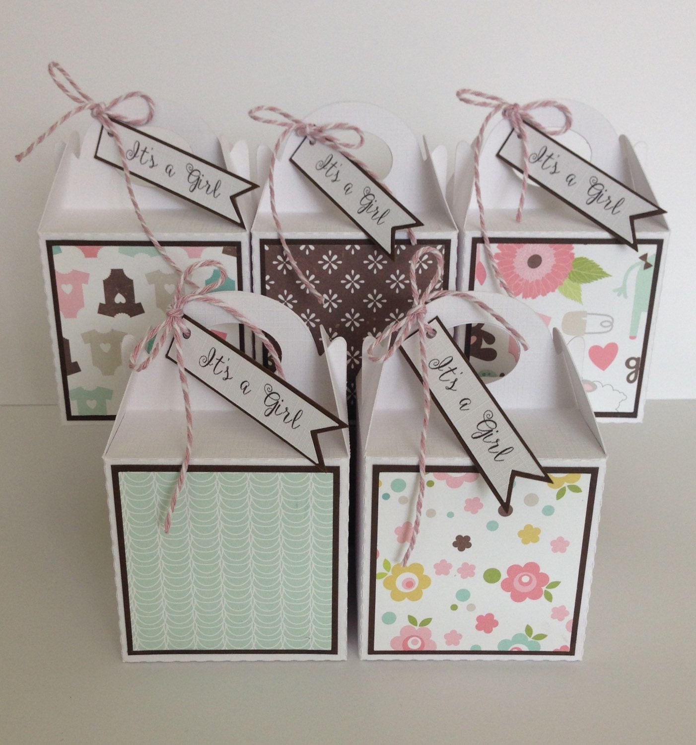 Baby Girl Gift Box : New baby girl shower gift box favour favor by