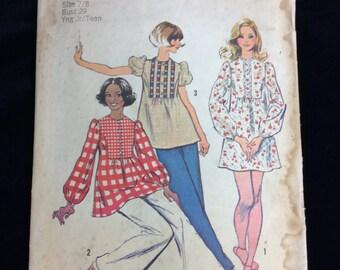 Vintage Simplicity Ladies Dress Pattern # 5629 Sz.7/8 Uncut