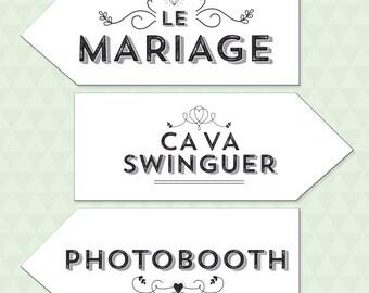 Vintage wedding signs DIY