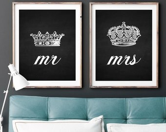 Items similar to set of his and hers king and queen crown for Queen bathroom decor