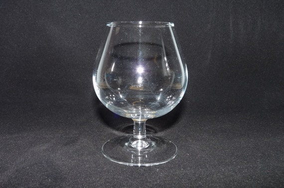 Brandy Or Cognac Glass Tulip Rim Classic Shape Clear