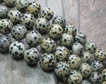 Dalmatian Jasper Beads, 14 mm - Full strand - Item B0168