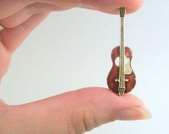 Cello Pin, Cello Brooch, Violin Pin, Violin Brooch, Guitar Pin, Guitar Brooch, Vintage Pin, Vintage Brooch, Musical Instrument, Bass, Fiddle