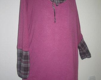 Boho Tunic, Plus Size Clothing, Plus Size Tunic, Plus Size, Tunic, Maternity Clothing, Oversized Tunic, Cotton Tunic, Long Tunic, OOAK