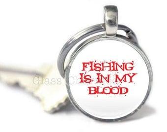 Fishing Keyring, Fish Key chain, Fishing gifts, Fishing Quote Keychain (fishing 5)