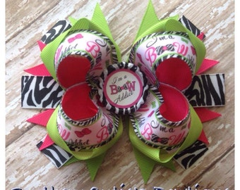 Bow addict stacked hairbow