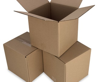 50 8x4x3 Cardboard Shipping Boxes Cartons Packing Moving Mailing Box