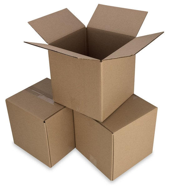 100 7x5x3 cardboard shipping boxes cartons packing moving. Black Bedroom Furniture Sets. Home Design Ideas