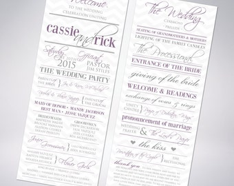 Custom Wedding Programs; multiple designs available