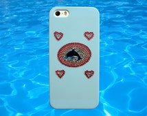 SEA PUNK Dolphin iPhone 5S Case // Cyber Kawaii Pastel Blue