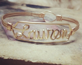 Custom Gold Bangle