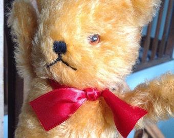 Cute Straw Filled Vintage Bear