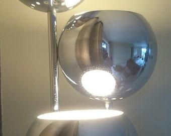 A Rare Mid Century Reggiani Chrome Floorlamp