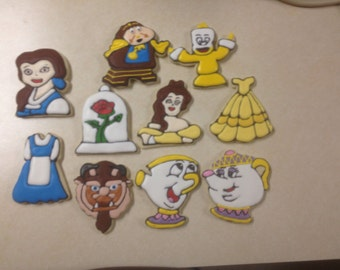 Beauty and the Beast Fan Art Decorated Cookies