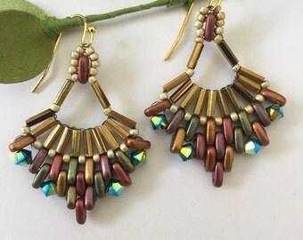 Multi pointed earrings