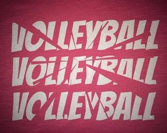 Women's Shatter Volleyball Glitter Shirt