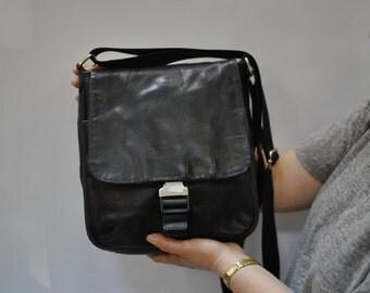 Vintage MESSENGER leather bag , men leather bag , cross body bag....(067)