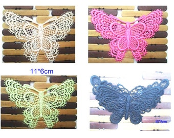 Wholesale LOT  20pcs Multi   butterfly   Sew on Applique Patches