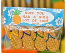 Luau Favor Bag Toppers; Luau Party; Luau Birthday Party; Favor Bag Toppers; Luau Decor