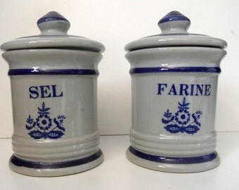 French vintageceramic kitchen canisters