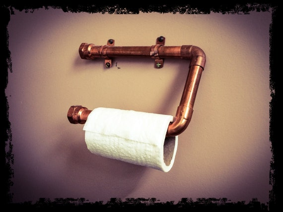 Steampunk Copper Toilet Paper Holder By Whisperingtreellc