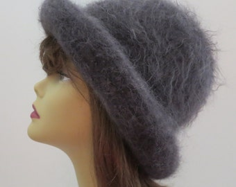 Felted Hat Pattern Bowler Hat using Lamb's Pride, Felt Hat,  Lamb's Pride, Winter Hat,  Downton Hat