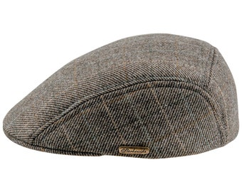 Men's Classic Flat Cap Wool Cloth - olive check