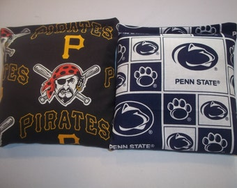 8 ACA Regulation Cornhole Bags - MLB Pittsburgh Pirates & Penn State Nittany Lions