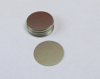 7/8 Blanks -  Nickel silver blanks - 24g Stamping Supplies - Metal blanks - round blanks - Circle blanks